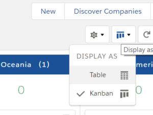 Kanban View- Select View Type