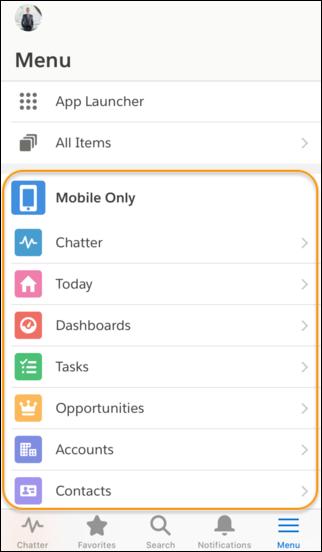 Salesforce Mobile App Navigation Menu Upgrade